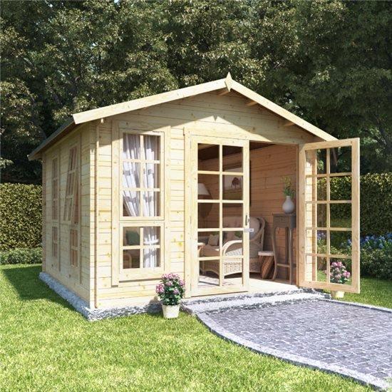 Image of 10 x 10 BillyOh Miller Log Cabin Summerhouse - 19
