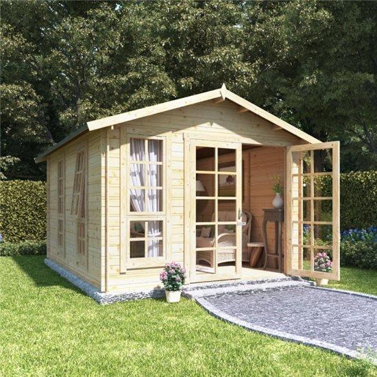 12x10 georgian bl oor  BillyOh Miller Log Cabin Summerhouse - 19