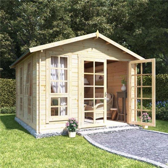 Image of 10 x 10 BillyOh Miller Log Cabin Summerhouse - 28