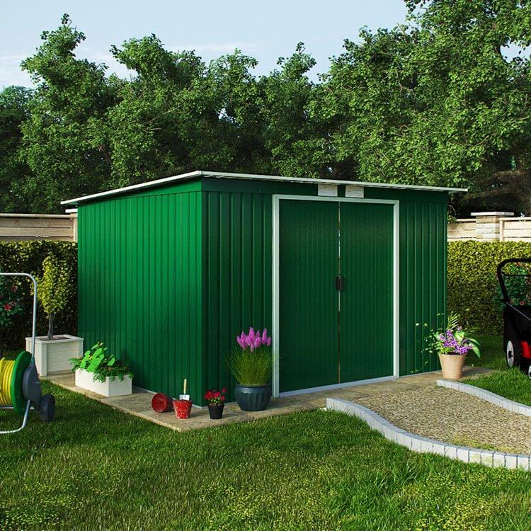 BillyOh Cargo Pent Metal Garden Shed