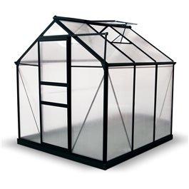 BillyOh Rosette Hobby Aluminium Greenhouse - Single Sliding Door, Twin-Wall Polycarbonate Glazing