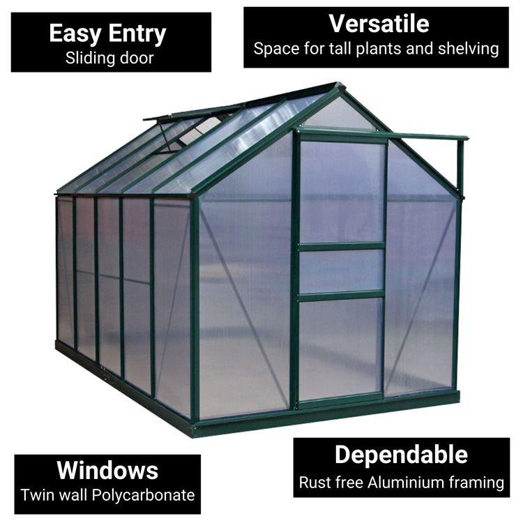 BillyOh Rosette Hobby Aluminium Polycarbonate Greenhouse