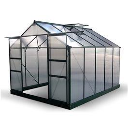 BillyOh Harvester Walk-In Aluminium Greenhouse - Double Door, Twin-Wall Polycarbonate Glazing