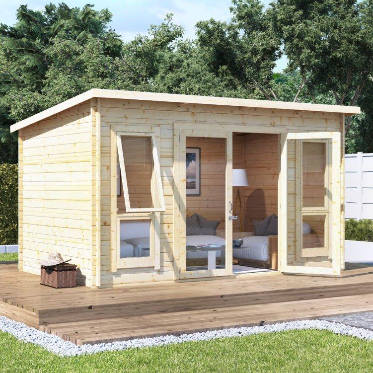 Log Cabin Summerhouses Interlocking Log Cabins Garden Building - Summer house