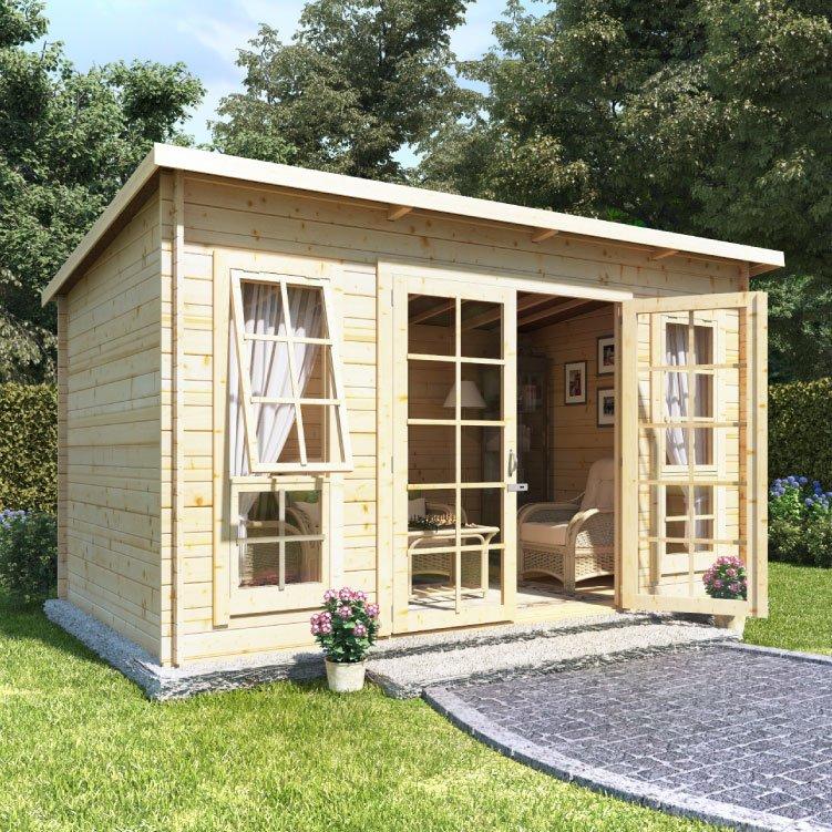 Billyoh skinner log cabin summerhouse traditional for Garden log cabins uk