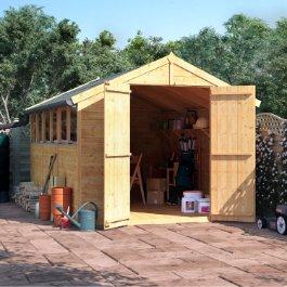 Garden sheds fast free shipping call 01636 858377 for 14x8 garage door