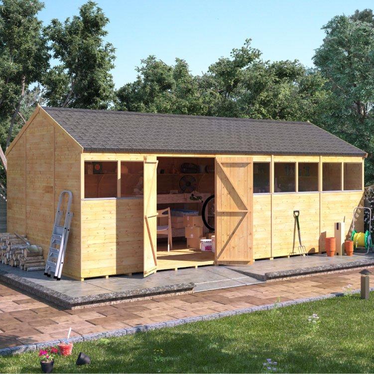 billyoh expert tongue and groove reverse apex workshop garden sheds garden buildings direct - Garden Sheds Workshops