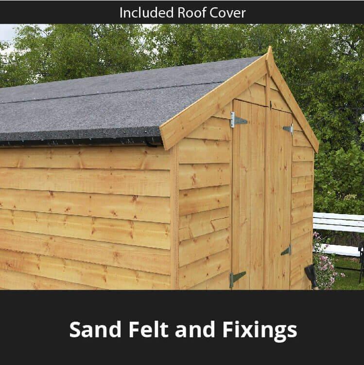 billyoh 10x6 keeper overlap apex windowed double door shed. Black Bedroom Furniture Sets. Home Design Ideas