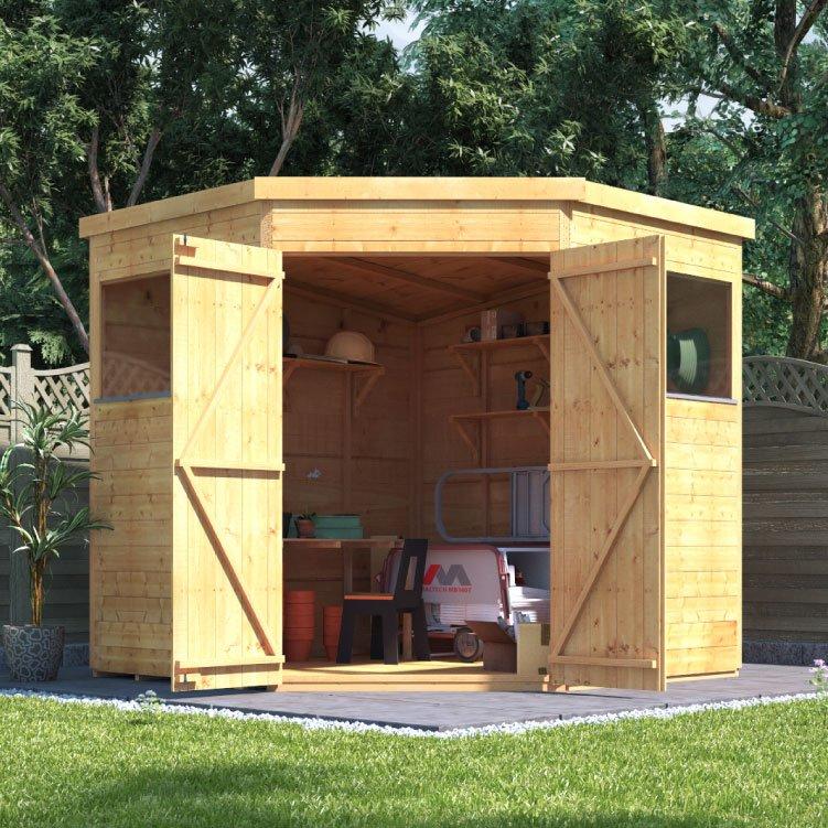 corner garden sheds 7x7 exellent corner garden sheds 8x8 shedplans traditional woodworking - Garden Sheds 7x7