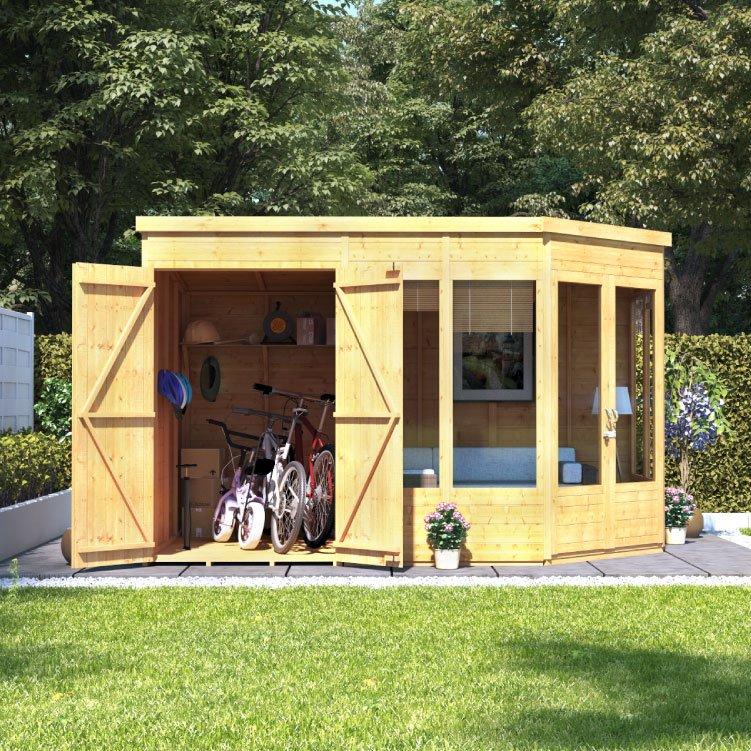 Billyoh Penton Corner Summerhouse With Side Store Wooden