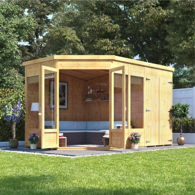 Billyoh Penton Corner Summerhouse With Side Store Summer