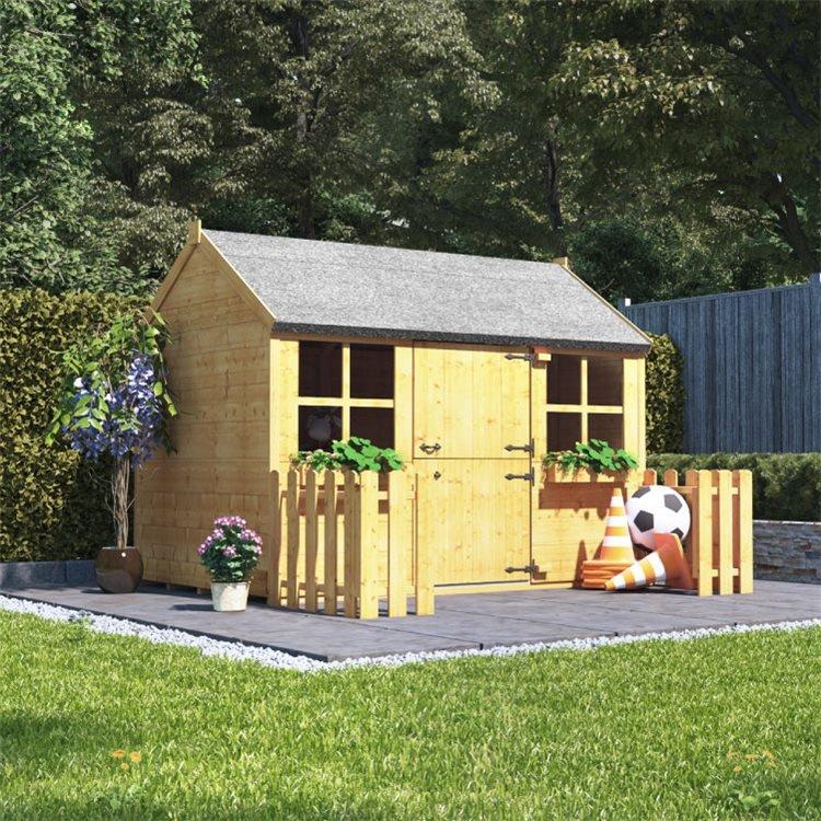 Gingerbread Junior Playhouse in a garden