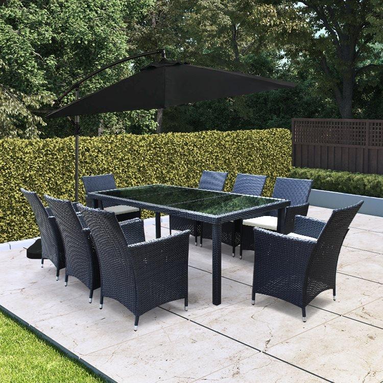 BillyOh Siena 8 Seater Rectangular Outdoor Rattan Dining Set