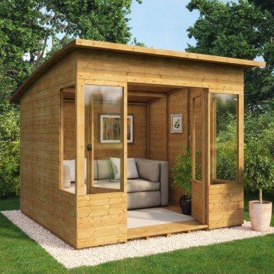 Verano wooden summerhouse sunroom range summer houses for Log cabin sunroom additions