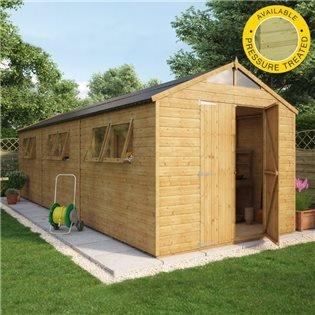 hobbyist tall apex wooden garden shed double door - Garden Sheds Wooden