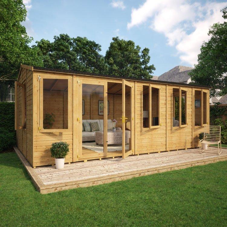 Relaxed Garden Summer House: Grandmaster 6000 Diplomat Offset Door Reverse Apex