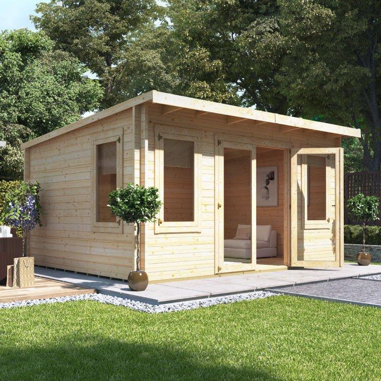 4.5m x 4.0m  BillyOh Eliana Pent Log Cabin - 44
