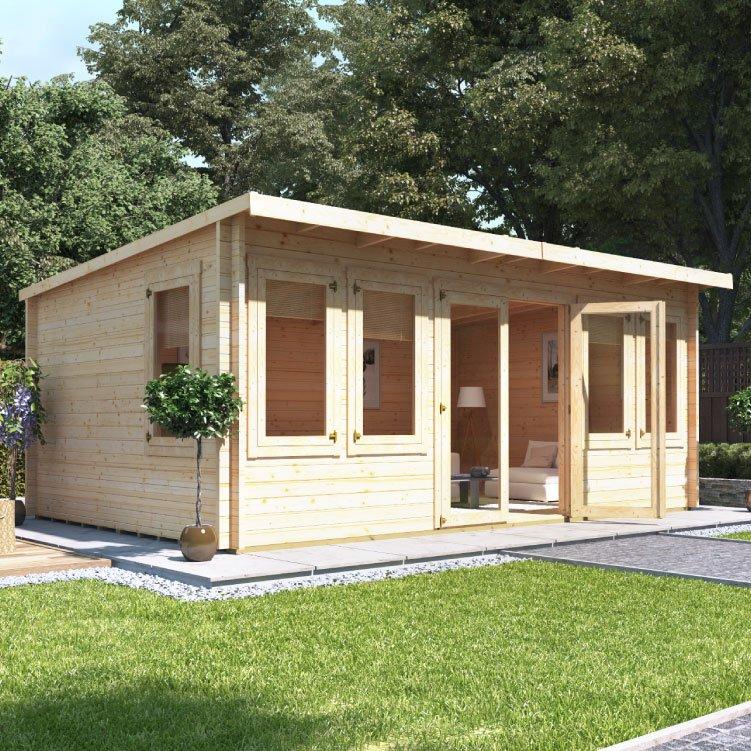 5.5m x 4.0m  BillyOh Eliana Pent Log Cabin - 44