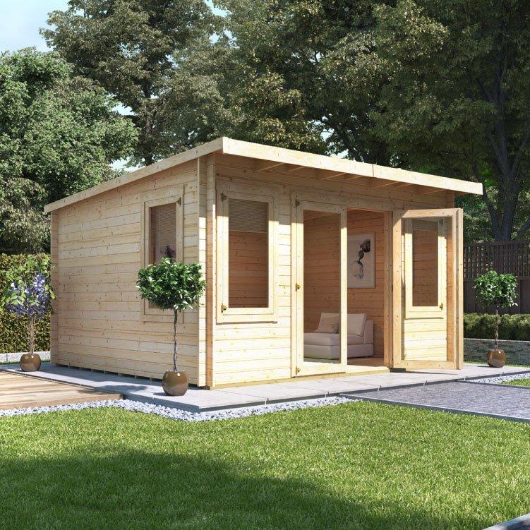 4.0m x 4.0m  BillyOh Eliana Pent Log Cabin - 28