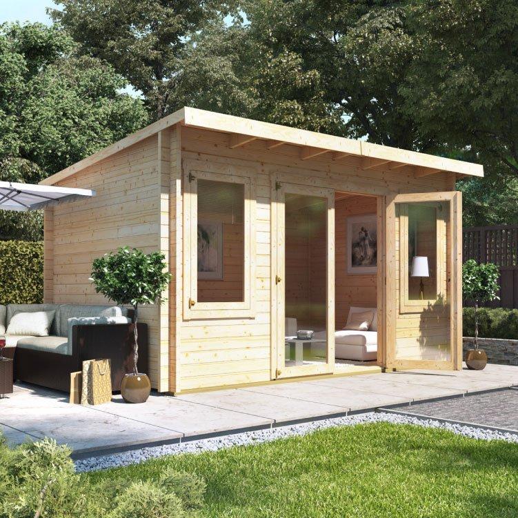 4.0m x 3.0m  BillyOh Fraya Pent Log Cabin - 44