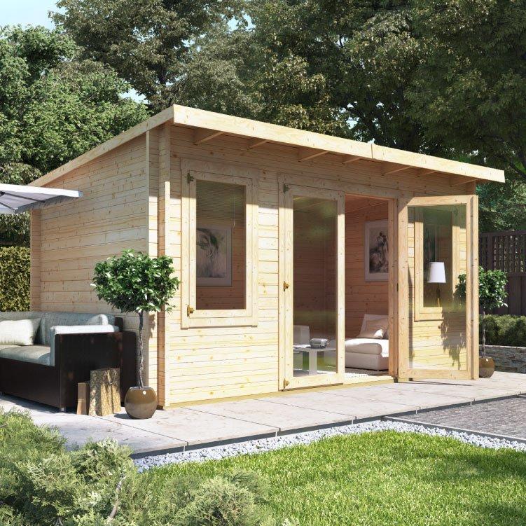 4.5m x 3.0m  BillyOh Fraya Pent Log Cabin - 44