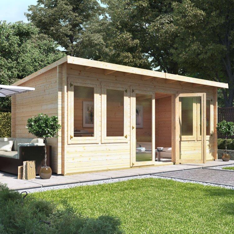 5.5m x 3.0m  BillyOh Fraya Pent Log Cabin - 44