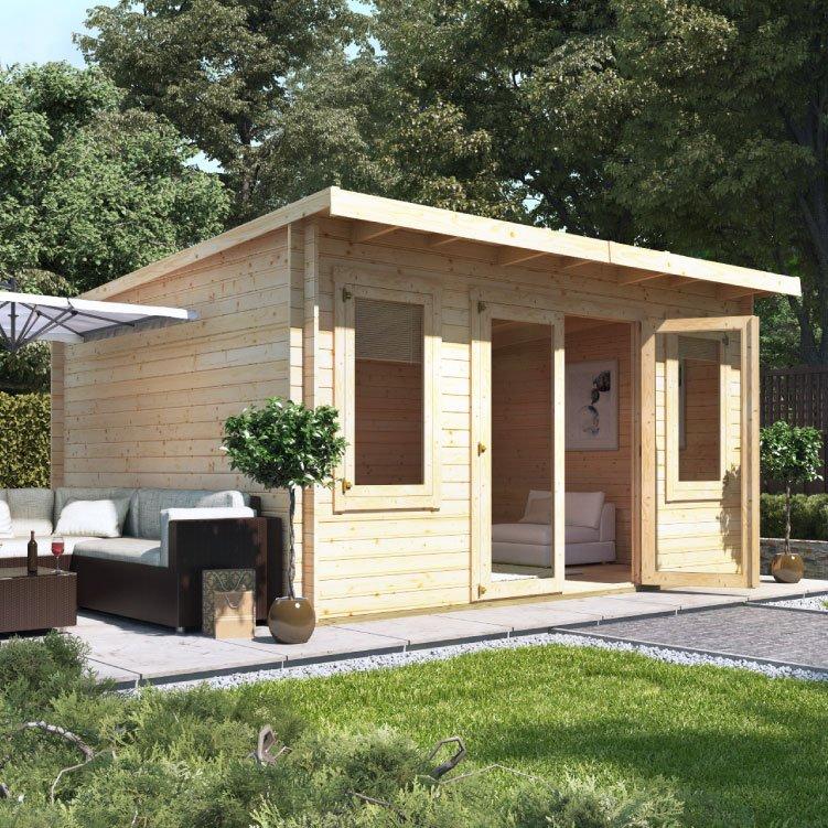4.5m x 4.0m  BillyOh Fraya Pent Log Cabin - 28