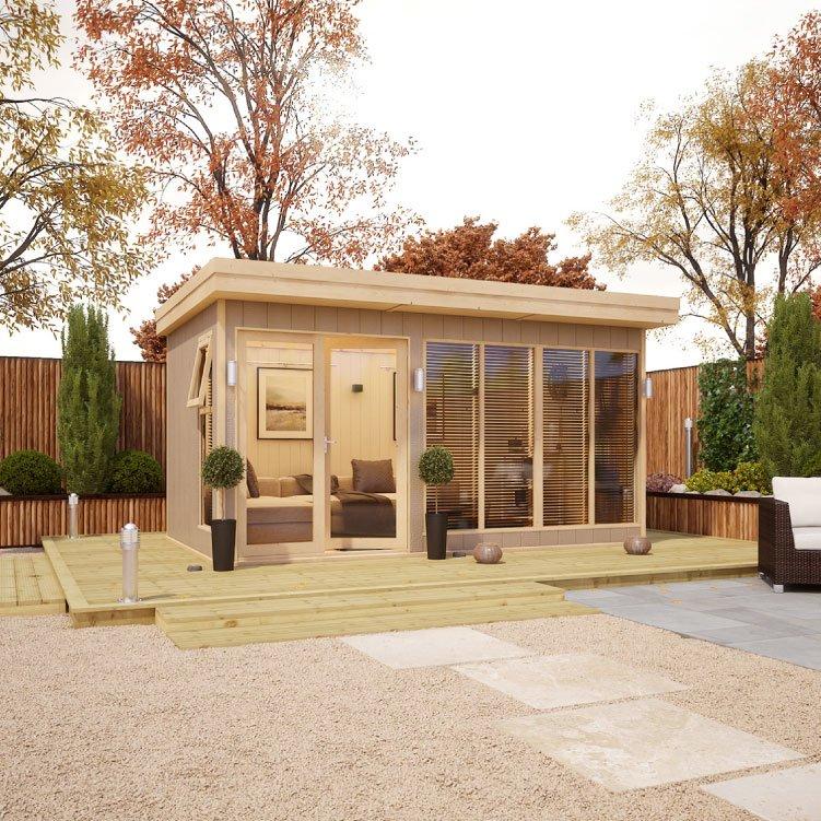 Evolution Insulated Composite Offset Door Garden Office