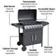 BillyOh Matrix Gas BBQ 6 Burner Grill + Side Burner Hooded Barbecue Black