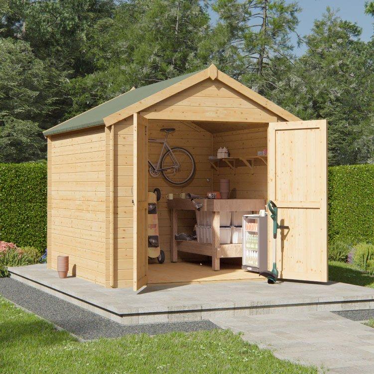 2.4m x 2.4m  BillyOh Pro Apex Log Cabin - 19