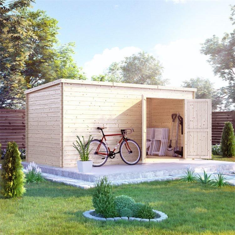 BillyOh Pro Pent Log Cabin - W4.5m x D2.1m - 19mm Tongue & Groove Walls