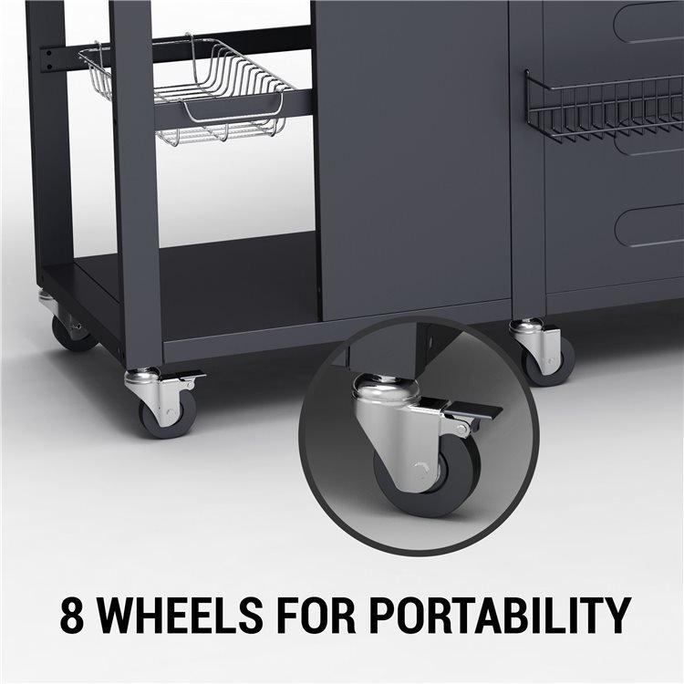 Alabama BBQ has 8 wheels for Portability