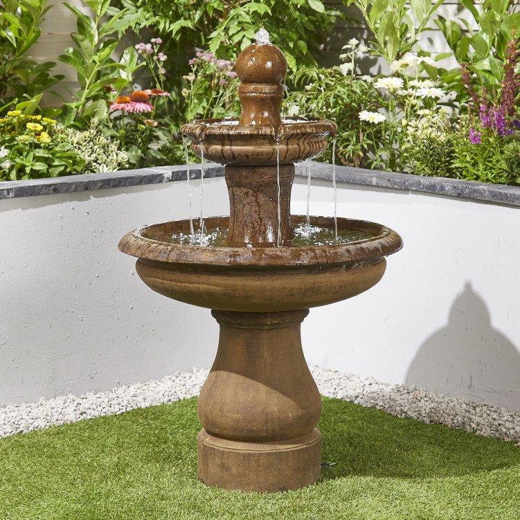 BillyOh Simplicity Outdoor Garden Water Feature with Pump 96.5x70x70cm