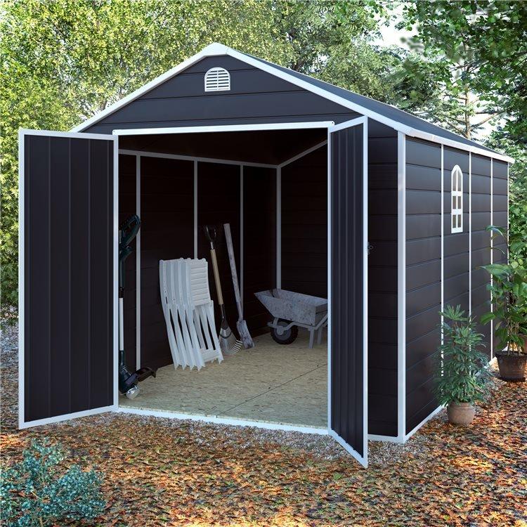 8x12 Ashford Plastic Garden Storage Shed - BillyOh