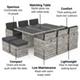 BillyOh Modica 10 Seater Cube Outdoor Rattan Garden Dining Set Mixed Grey