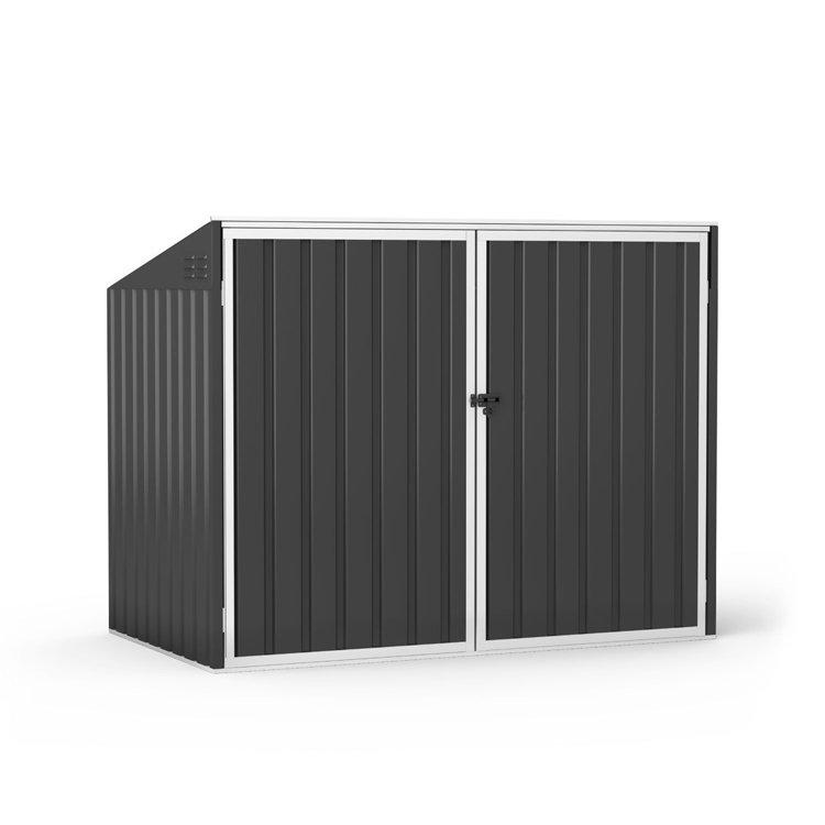 BillyOh Boxer Pent Metal Bin Storage Shed