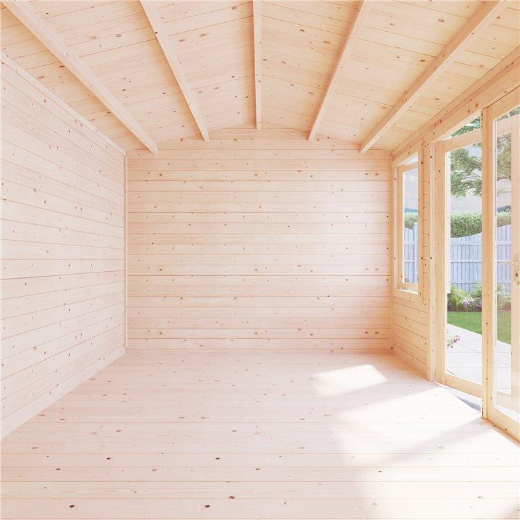 BillyOh Dorset Log Cabin Built empty interior