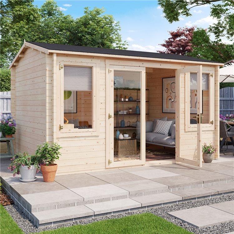 BillyOh Dorset Log Cabin Exterior alternative front view