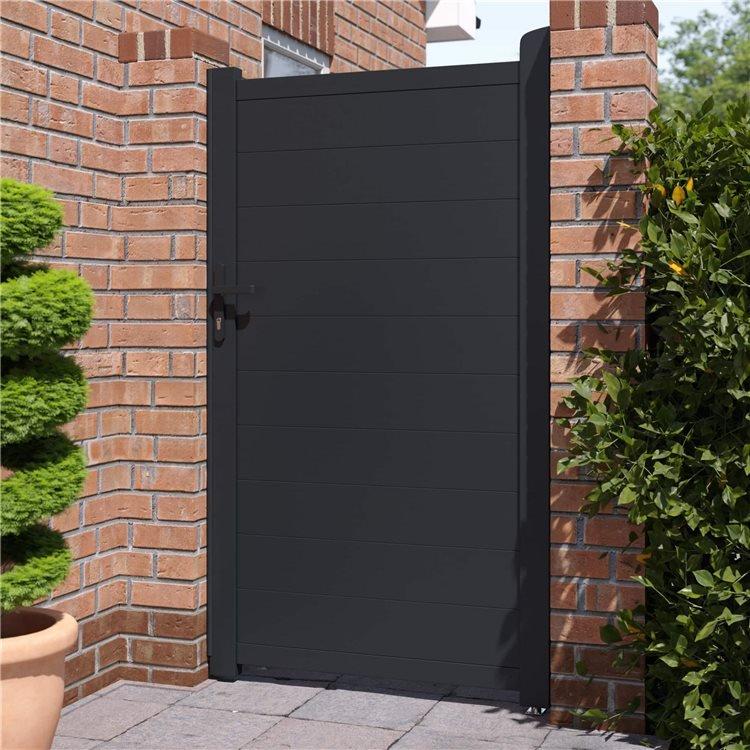 BillyOh Nova Pedestrian Full Privacy Aluminium Garden Gate