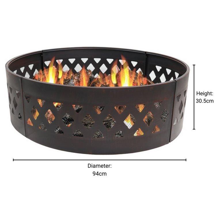 BillyOh Alaska Metal Campfire Fire Pit Ring