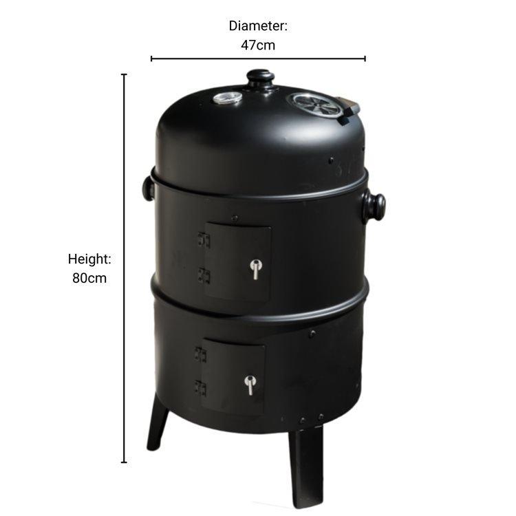BillyOh Arizona 3 in 1 Charcoal Smoker Steel Upright BBQ Drum