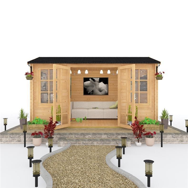 4.0 x 2.5 Log Cabin - BillyOh Dorset Wooden Log Cabin with opening Windows