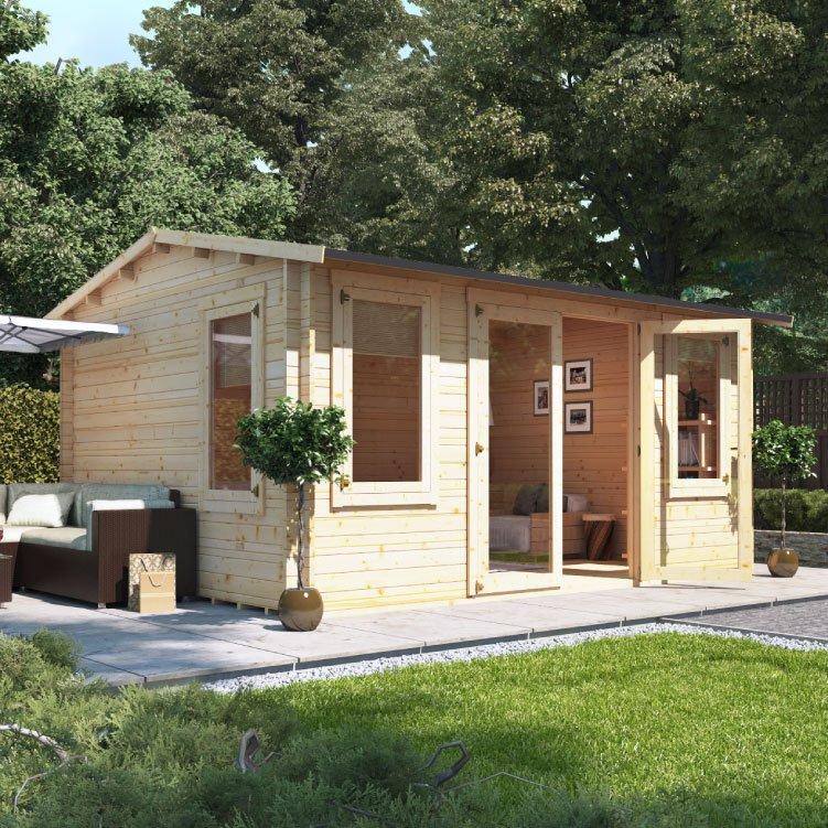 4.5m x 3.5m BillyOh Dorset Log Cabin - 28,44