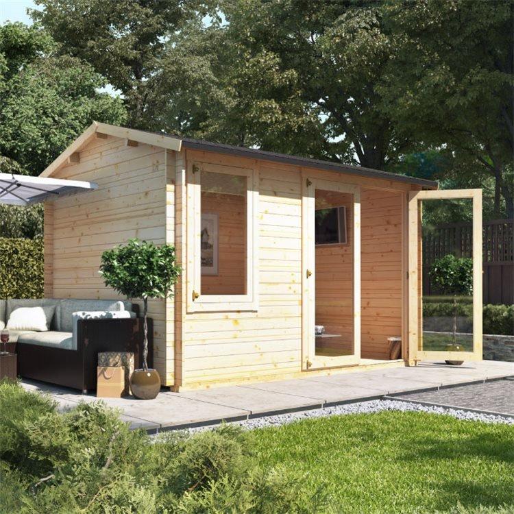 3.5m x 2.5m BillyOh Devon Log Cabin  - 28,44mm