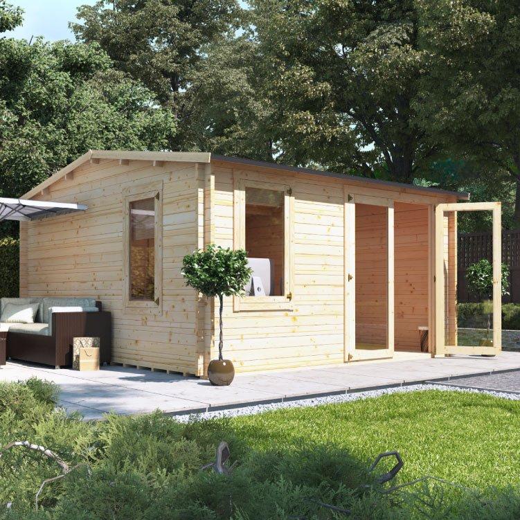 4.0m x 4.5m BillyOh Devon Log Cabin  - 28,44