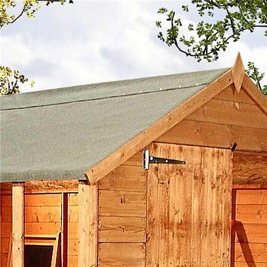 green mineral shed roofing felt shed repairs garden. Black Bedroom Furniture Sets. Home Design Ideas