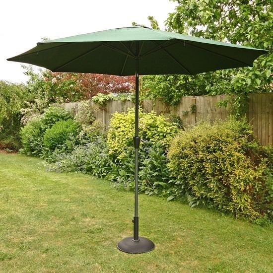 3m Sturdi Plus Aluminium Crank & Tilt Garden Parasol - Green