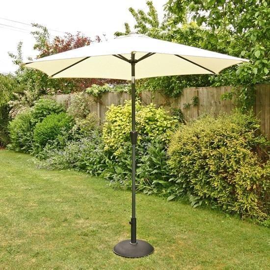 2.5m Sturdi Plus Aluminium Crank & Tilt Garden Parasol - Natural