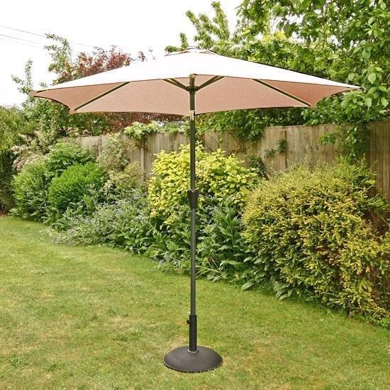 2.5m Sturdi Plus Aluminium Crank & Tilt Garden Parasol -Taupe