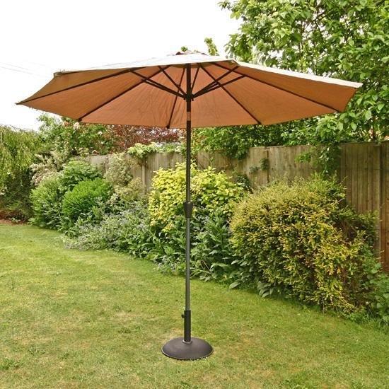 3m Sturdi Plus Aluminium Crank & Tilt Garden Parasol - Taupe
